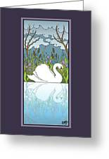 Swan On The River Greeting Card