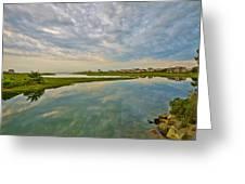 Swan River Morning Greeting Card