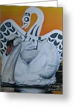 Swan Totem Greeting Card