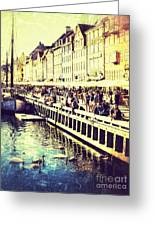 Swans In Nyhavn Greeting Card