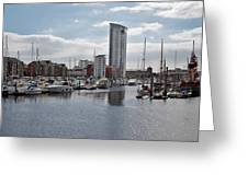 Swansea Marina Greeting Card