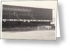 Swansea - Vetch Field - West Terrace 1 - Bw - 1960s Greeting Card
