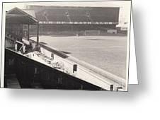 Swansea - Vetch Field - West Terrace 2 - Bw - 1960s Greeting Card