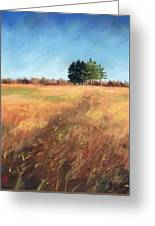 Swaying Amber Greeting Card by Christine Camp