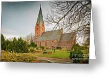 Swedish Brick Church Greeting Card