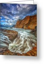 Sweeping Tides Greeting Card