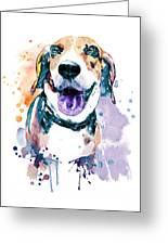Sweet Beagle Greeting Card