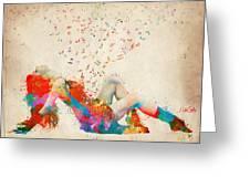 Sweet Jenny Bursting With Music Greeting Card