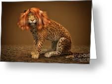 Sweet Lady Leopard Greeting Card