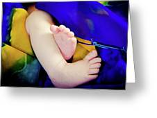 Sweet Little Baby Feet Greeting Card