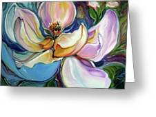 Sweet Magnoli Floral Abstract Greeting Card
