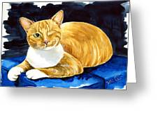 Sweet Melon - Ginger Tabby Cat Painting Greeting Card