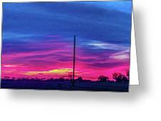 Sweet Nebraska Sunset 006 Greeting Card