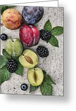 Sweet Plums  Greeting Card