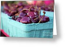 Sweet Summer Cherries Greeting Card