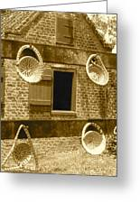 Sweetgrass Baskets And Slave Shack Greeting Card