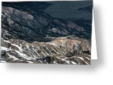 Sweetwater Mountains On California Nevada Border Aerial Photo Greeting Card