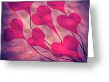 Swept Away In Your Love Romantic Textures Greeting Card