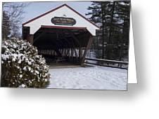 Swift River Bridge Conway New Hampshire Greeting Card