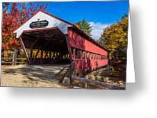 Swift River Bridge Greeting Card