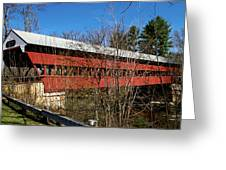 Swift River Covered Bridge Greeting Card