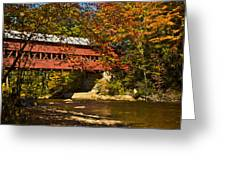 Swift River Covered Bridge In Conway New Hampshire Greeting Card