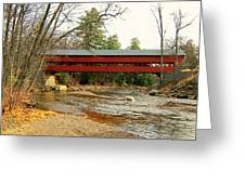 Swift River Covered Bridge Greeting Card