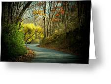 Swift Shoal Road Greeting Card by Joyce Kimble Smith