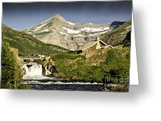 Swiftcurrent Falls Glacier Park 1 Greeting Card