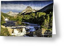 Swiftcurrent Falls Glacier Park 3 Greeting Card