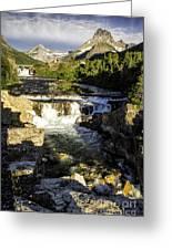 Swiftcurrent Falls Glacier Park 4 Greeting Card