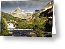 Swiftcurrent Falls Glacier Park Greeting Card