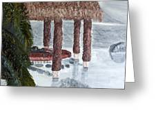 Swim To A Beach Bar Cool Huh Greeting Card by Leslye Miller