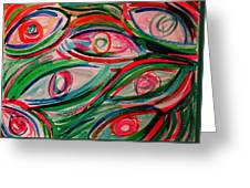 Swimming Eyes 2 Greeting Card