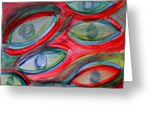 Swimming Eyes Greeting Card