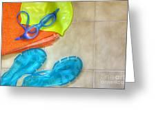 Swimming Gear Greeting Card