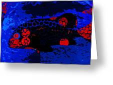Swimming In Blue Coral Greeting Card