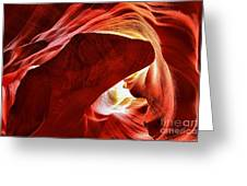 Swimming In Fire Greeting Card
