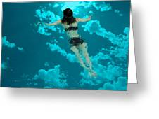 Swimming In The Sky Greeting Card