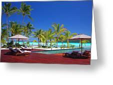 Swimming Pool At Beach Greeting Card
