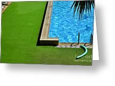Swimming Pool Greeting Card by Silvia Ganora