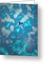 Swimming Through The Clouds Greeting Card