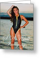 Swimsuit Girl Ad Greeting Card