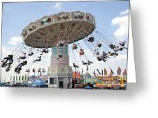 Swing Carousel At County Fair Greeting Card