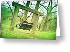 Swing On Greeting Card