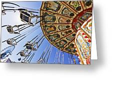 Swing Ride At The Fair Greeting Card