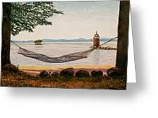 Swingin On Sebago Greeting Card