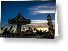 Swingin Sunset Greeting Card
