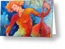 Swinging At Club 135 Greeting Card by Susanne Clark