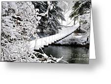 Swinging Bridge Over Gauley River Greeting Card
